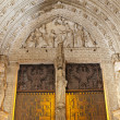TOLEDO - MARCH 8: Main gothic portal of Cathedral Primada Santa Maria de Toledo on March 8, 2013 in Toledo, Spain. — Stock Photo