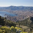 Stock Photo: Palermo - outlook over city and harbor form Mount Pelegrino