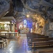 PALERMO - APRIL 9: Cave of Santuario di Santa Rosalia. The cave is a holy shrine on mount Pelegrino over Palermo, and is dedicated to Santa Rosalia patron of Palermo on April 9, 2013 in Palermo, Italy — Stock Photo
