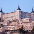 Toledo - Alcazar in morning dusk — Stock Photo