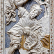 PALERMO - APRIL 8: Baroque relief of Abrahams proof in church Chiesa di Santa Caterina build in years 1566 - 1596 April 8, 2013 in Palermo, Italy. — Stok fotoğraf