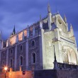 Madrid - Gothic church San Jeronimo el Real in evening dusk — Stock Photo
