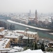 Verona  - Outlook from Castel san Pietro in winter — Stock Photo