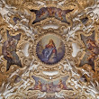 Stock Photo: PALERMO - APRIL 8: Detail from ceiling of side nave in church Lchiesdel Gesu or CasProfessa. Baroque church was completed in year 1636 on April 8, 2013 in Palermo, Italy.