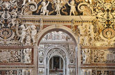 PALERMO - APRIL 8: Detail from side nave in church La chiesa del Gesu or Casa Professa. Baroque church was completed in year 1636 on April 8, 2013 in Palermo, Italy. — Stock Photo