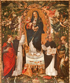 PALERMO - APRIL 8: Renaissance paint of Madonna with the Dominicans saints from year 1840 in Saint Dominic church on April 8, 2013 in Palermo, Italy. — Stock Photo