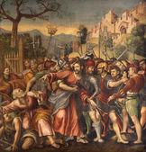 VERONA - JANUARY 27: Captivity of Christ or Arresto di Gesu by N. Giolfino (1476 - 1555) from Avanzi Chapel in San Bernardino church on January 27, 2013 in Verona, Italy. — Stock Photo