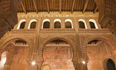 TOLEDO - MARCH 8: Archs and frescos of San Roman church has a steeple built in the mudejar architectural style in the 13th cent. on March 8, 2013 in Toledo, Spain. — Stock Photo