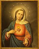 Verona - 27 gennaio: cuore della Vergine Maria. dipingere su 27 gennaio 2013 da Chiesa di san lorenzo a verona, Italia — Foto Stock