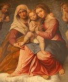 Verona - 28 januari: verf van madonna met kind en st. ann door francesco caroto van jaar 1528 van kerk san fermo maggiore op 28 januari 2013 in verona, italië. — Stockfoto