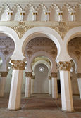 TOLEDO - MARCH 8: Mudejar archs from Synagogue Santa Maria la Blanca. Construction date sometime in the late twelfth century or early thirteenth century on March 8, 2013 in Toledo, Spain. — Stock Photo