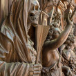 MECHELEN - SEPTEMBER 4: Carved Apocalyptic death statue from Onze-Lieve-Vrouw-van-Hanswijkbasiliek church on Sepetember 4, 2013 in Mechelen, Belgium. — Stock Photo