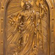 ANTWERP - SEPTEMBER 4: Relief of Resurrected Christ on the tabernacle  in Saint Willibrordus church on September 4, 2013 in Antwerp, Belgium — Stock Photo