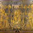 ANTWERP, BELGIUM - SEPTEMBER 5: Adoration of Madonna on metal plate from year 1872 in Joriskerk or st. George church on September 5, 2013 in Antwerp, Belgium — Stock Photo