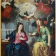 Постер, плакат: ANTWERP BELGIUM SEPTEMBER 5: The Annunciation Paint by Hendrick Van Balen from year 1615 in St Pauls church Paulskerk on September 5 2013 in Antwerp Belgium