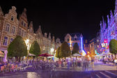 Leuven - Nighty life on the Oude Markt — Stock Photo