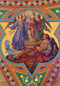 VIENNA - JULY 27: Fresco of Dream of Jacob in Altlerchenfelder church from 19. cent. on July 27, 2013 Vienna. — Stock Photo