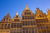 Antwerp - Palaces of Grote Markt in evening dusk — Stock Photo