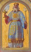 VIENNA - JULY 27: Fresco of high priest Aron by Joseph Schonman from year 1858 in Altlerchenfelder church on July 27, 2013 Vienna. — Stock Photo