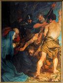Антверпен, Бельгия - 5 сентября: перевозки креста. краска, Великий мастер барокко Антониса Ван Дейка в церкви Святого Паулса (paulskerk) 5 сентября 2013 года в Антверпене, Бельгия — Стоковое фото