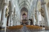 MECHELEN, BELGIUM - SEPTEMBER 6: Nave of St. Rumbold's cathedral on Sepetember 6, 2013 in Leuven, Belgium. — Stock Photo
