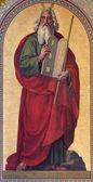 VIENNA - JULY 27: Fresco of Moses by Joseph Schonman from year 1857 in Altlerchenfelder church on July 27, 2013 Vienna. — Stock Photo