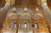палермо - 8 апреля: мозаика палатинская капелла-капелла норман дворца в стиле византийской архитектуры от лет 1132-1170 на 8 апреля 2013 г. в палермо, италия. — Стоковое фото