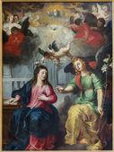 ANTWERP, BELGIUM - SEPTEMBER 5: The Annunciation. Paint by Hendrick Van Balen from year 1615 in St. Pauls church (Paulskerk) on September 5, 2013 in Antwerp, Belgium — Stock Photo