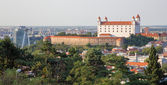 Castle in Bratislava from Slavin — Stock Photo