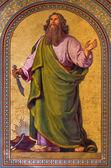 VIENNA - JULY 27: Fresco of Abraham by Joseph Schonman from year 1857 in Altlerchenfelder church on July 27, 2013 Vienna. — Stock Photo