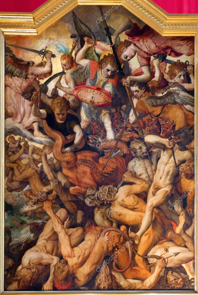 Fall of the Rebellious Angels painting, aBeccafumi Domenico ...
