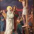 ������, ������: ANTWERP BELGIUM SEPTEMBER 5: Paint of Crucifixion as part of Seven Sorrows of Virgin cycle by Josef Janssens from years 1903 1910 in the cathedral of Our Lady
