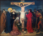 ANTWERP, BELGIUM - SEPTEMBER 5: Crucifixion as part of Seven Sorrows of Virgin cycle by Josef Janssens from years 1903 - 1910 in the cathedral of Our Lady on September 5, 2013 in Antwerp, Belgium — Stock Photo