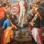 MECHELEN, BELGIUM - SEPTEMBER 6: Paint of Resurrection of Christ by J. Snellinckx (1544 - 1588) in St. Rumbold's cathedral on September 6, 2013 in Mechelen, Belgium. — Stock Photo #36784073