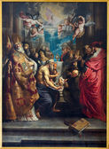 ANTWERP - SEPTEMBER 5: The Disputation of the Holy Sacrament by Peter Paul Rubens from year 1608 in St. Pauls church (Paulskerk) on September 5, 2013 in Antwerp, Belgium — Stock Photo