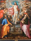 MECHELEN, BELGIUM - SEPTEMBER 6: Paint of Resurrection of Christ by J. Snellinckx (1544 - 1588) in St. Rumbold's cathedral on September 6, 2013 in Mechelen, Belgium. — Stock Photo