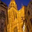 Antwerp - West facade of cathedral of Our Lady at evening dusk — Stock Photo