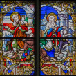 MECHELEN, BELGIUM - SEPTEMBER 6: Finding of lost Jesus from windowpane of St. Rumbold's cathedral on September 6, 2013 in Mechelen, Belgium. — Stock Photo #36794479