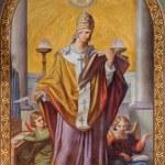 ������, ������: VIENNA JULY 27: Fresco of st Gregory by Leopold Schulz from year 1856 in Altlerchenfelder church on July 27 2013 Vienna