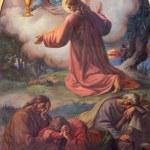 Постер, плакат: VIENNA JULY 27: Prayer of Jesus in Gethsemane garden by Franz Josef Dobiaschofsky from 19 cent in Altlerchenfelder church on July 27 2013 Vienna
