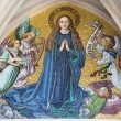 Stock Photo: VIENN- JULY 3: Mosaic of Virgin Mary from main portal of gothic church Mariam Gestade on July 3, 2013 Vienna.