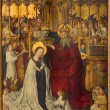 Stock Photo: VIENN- JULY 3: Coronation of holy Mary from year 1350 on July 3, 2013 Vienna.