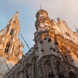 Brussels - The Town hall in evening light. UNESCO World Heritage Site. — Stock Photo
