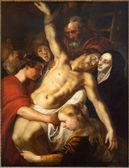 Amberes, bélgica - el 4 de septiembre: la deposición de la cruz por adam van noort del año 1610, en la catedral de nuestra señora en 04 de septiembre de 2013 en antwerp, bélgica — Foto de Stock
