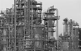 Oil refinery Schwechat in Austria — Stock Photo