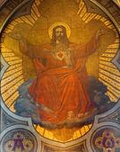 Antwerpia, belgia - 5 września: fresk serca jezusa w głównym apsyda kościoła joriskerk lub st. george z 19. procent. 5 września 2013 r. w antwerpii, belgia — Zdjęcie stockowe