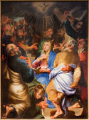 ANTWERP, BELGIUM - SEPTEMBER 5: Paint of Pentecost scene by Matthijs Voet in St. Pauls church (Paulskerk) on September 5, 2013 in Antwerp, Belgium — Foto Stock