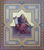 VIENNA - JULY 27: Fresco of prophet Micah by Carl Mayer from 19. cent. in Altlerchenfelder church on July 27, 2013 Vienna. — Stock Photo