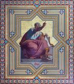 VIENNA - JULY 27: Fresco of Zephaniah prophets from 19. cent. by Carl Mayer in Altlerchenfelder church on July 27, 2013 Vienna. — Stock Photo