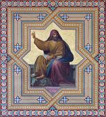 VIENNA - JULY 27: Fresco of Hosea prophets from 19. cent. by Carl Mayer in Altlerchenfelder church on July 27, 2013 Vienna. — Stock Photo